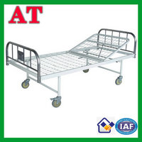 Double-folding hospital bed