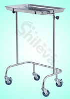 Tray Stand with Two Post Hospital Bed (SLV-C4022)