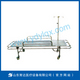 Stainless steel stretcher trolley with four small wheels